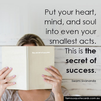 The Secret of Success Quote